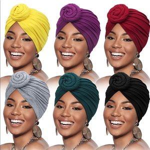 Solid Color Head Turban